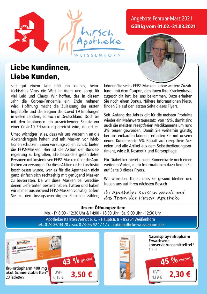 Hirsch Apotheke Weissenhorn Angebote